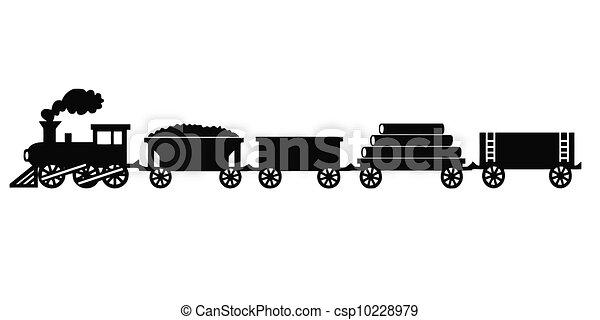 ouderwetse , trein, speelbal - csp10228979