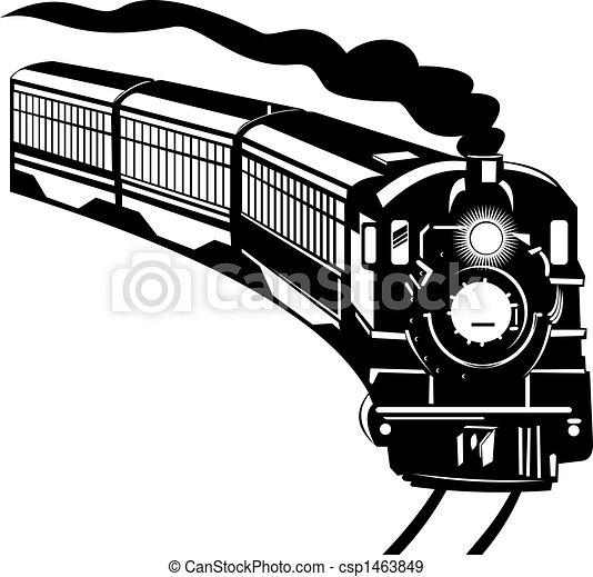 ouderwetse , trein - csp1463849