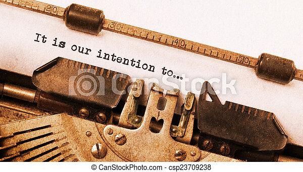 ouderwetse , typemachine - csp23709238