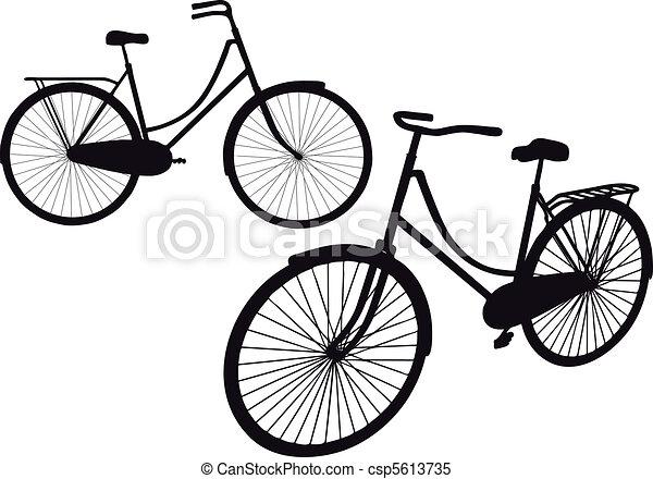 ouderwetse , vector, fiets - csp5613735