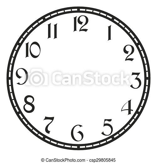 ouderwetse , vector, klok - csp29805845