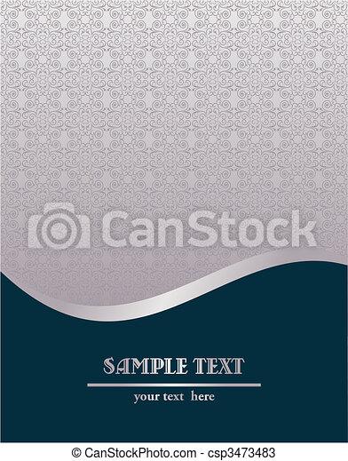 ouderwetse , vector, koninklijk, mal, illustratie - csp3473483