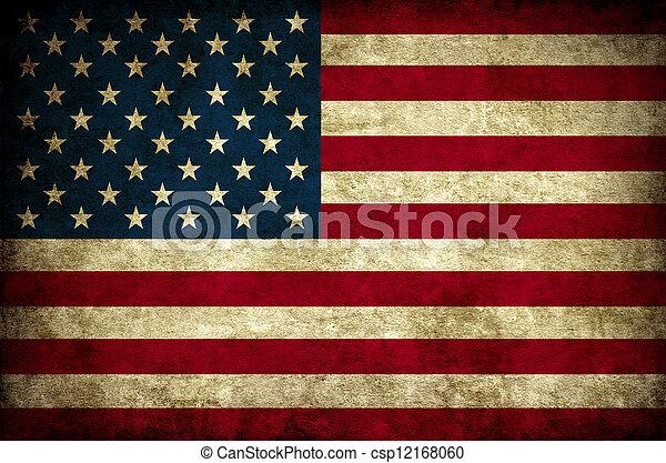 ouderwetse , vlag, usa - csp12168060