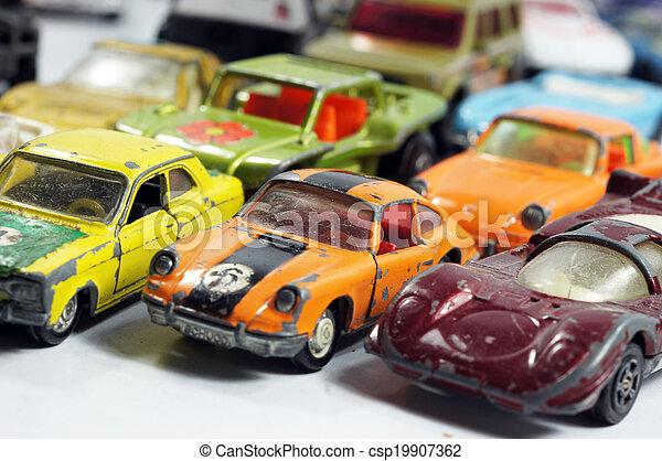 ouderwetse , weinig; niet zo(veel), de auto's van het stuk speelgoed - csp19907362