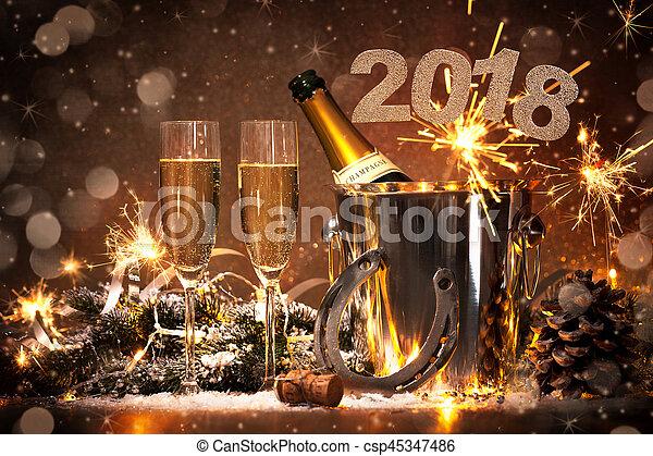 oudjaarsdag, viering - csp45347486