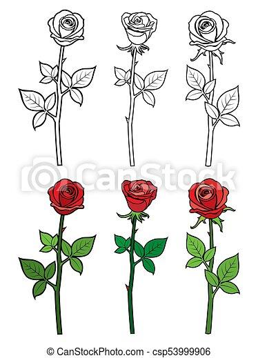 ouline hand rosen gezeichnet blumen rotes ouline page f rbung abbildung hand. Black Bedroom Furniture Sets. Home Design Ideas