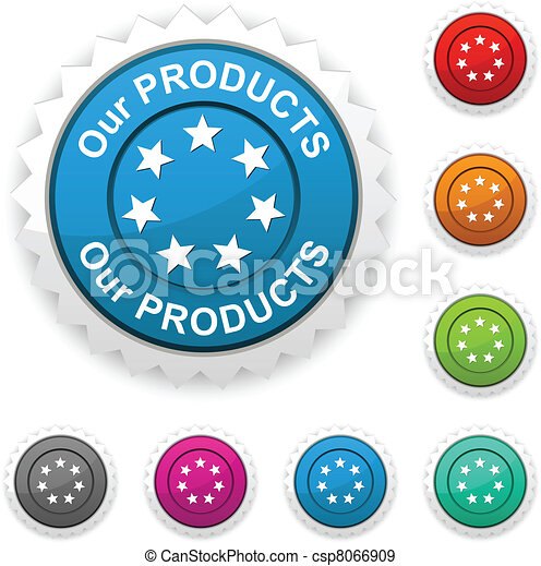 Our products award button. - csp8066909