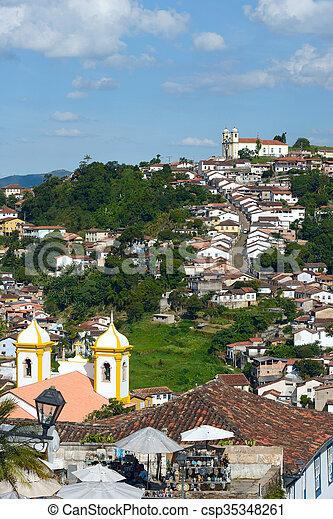 Ouro Preto in Minas Gerais, Brazil - csp35348261