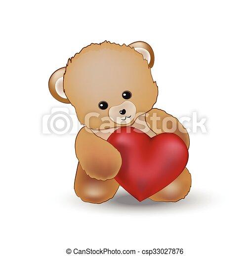 ours coeur teddy csp33027876 - Ours Coeur