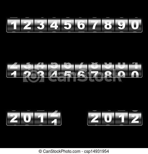 out-dated, szablon, year., redagować, uniwersalny, kantor, dwa, numbers., –, wektor, połączyć, przykłady, odpoczynek, rok, użytek, wymiana, mechaniczny, 2011, jakiś, 2012 - csp14931954