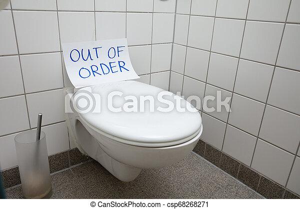 Strange Out Of Order Text On Toilet Bowl Spiritservingveterans Wood Chair Design Ideas Spiritservingveteransorg