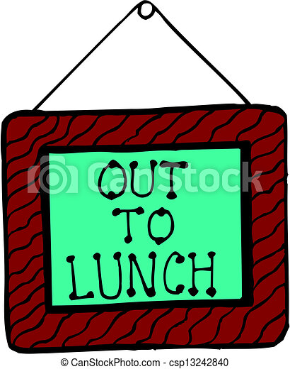 out to lunch eps vector search clip art illustration drawings rh canstockphoto com out to lunch clip art free