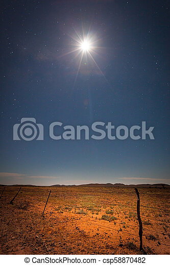 Outback Moon - csp58870482