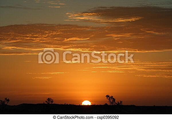 outback, napnyugta - csp0395092