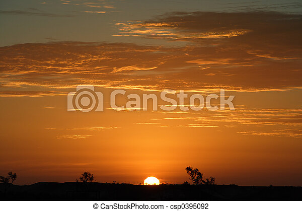 Outback sunset - csp0395092