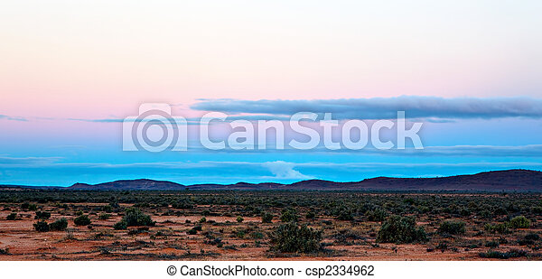 Outback Sunset - csp2334962