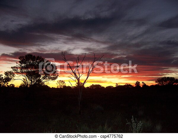 Outback Sunset - csp4775762