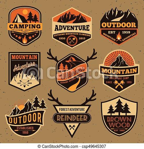 Outdoor camping badge - csp49645307