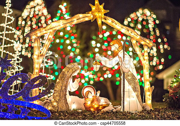 outdoor christmas decorations at christmas town usa csp44705558 - Christmas Town Decorations