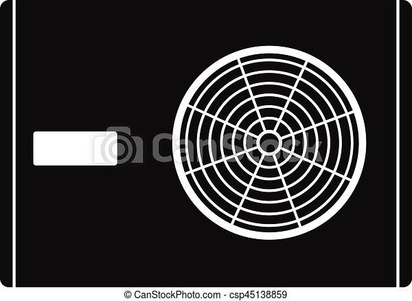 Outdoor compressor of air conditioner icon - csp45138859