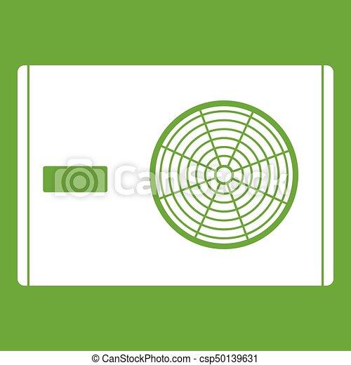 Outdoor compressor of air conditioner icon green - csp50139631