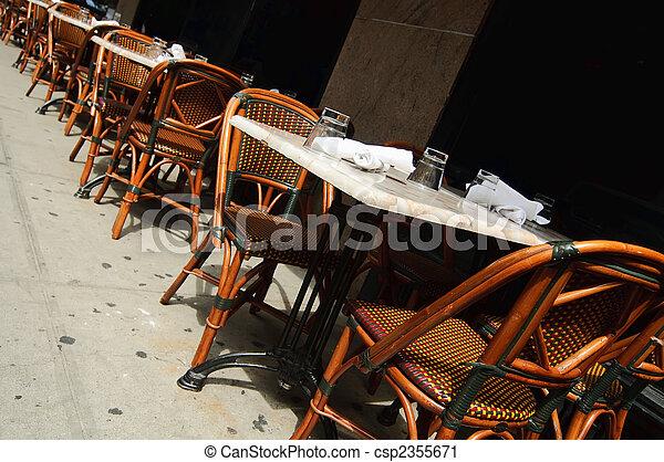 Outdoor dining area - csp2355671