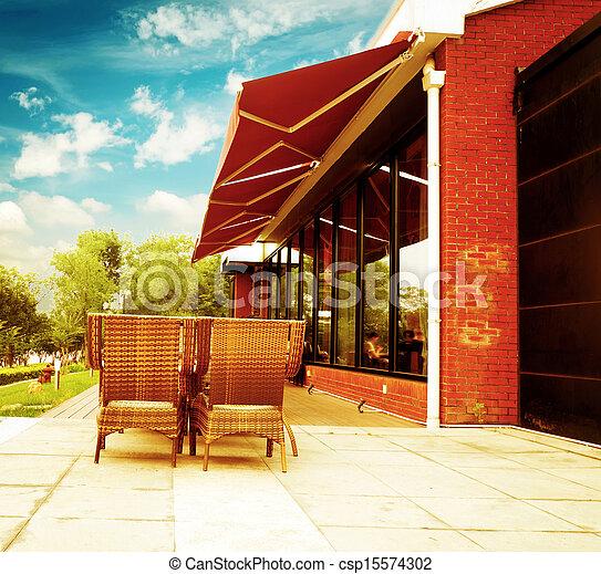 Outdoor Dining Area - csp15574302