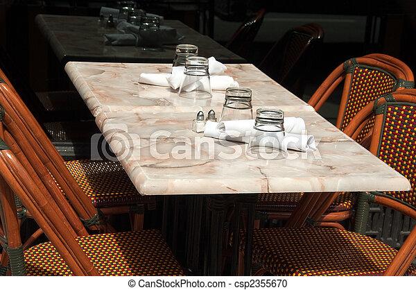Outdoor dining area - csp2355670