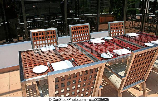 Outdoor dining - csp0305635