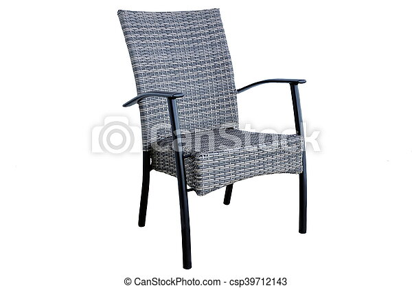 Awe Inspiring Outdoor Poly Rattan Dining Chair Isolated On White Background Ncnpc Chair Design For Home Ncnpcorg