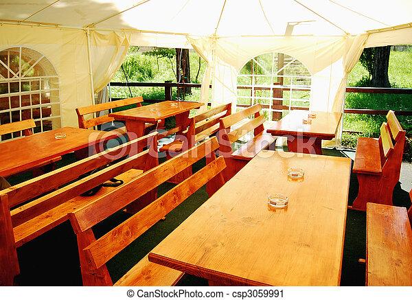 Outdoor restaurant - csp3059991