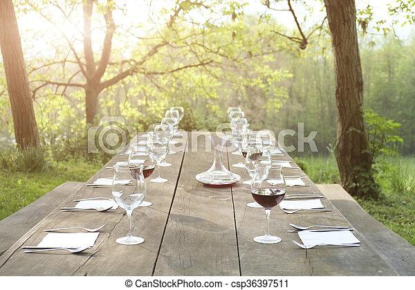 Outdoor restaurant - csp36397511