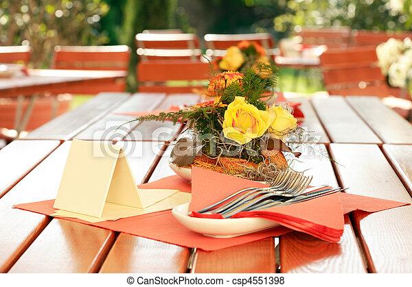 Outdoor restaurant - csp4551398