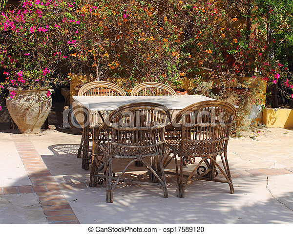 outdoor restaurant - csp17589120