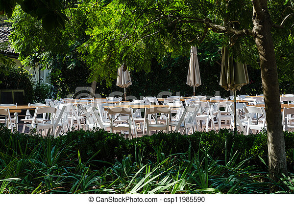 Outdoor restaurant - csp11985590