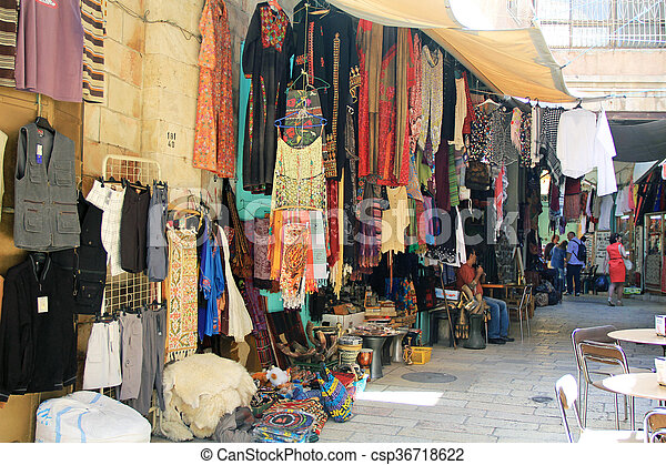 Outdoor Shop in the Christian Quart - csp36718622