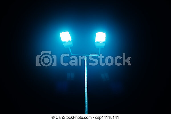 Outdoor sport court or stadium lights against dark night sky stock outdoor sport court or stadium lights csp44118141 aloadofball Choice Image