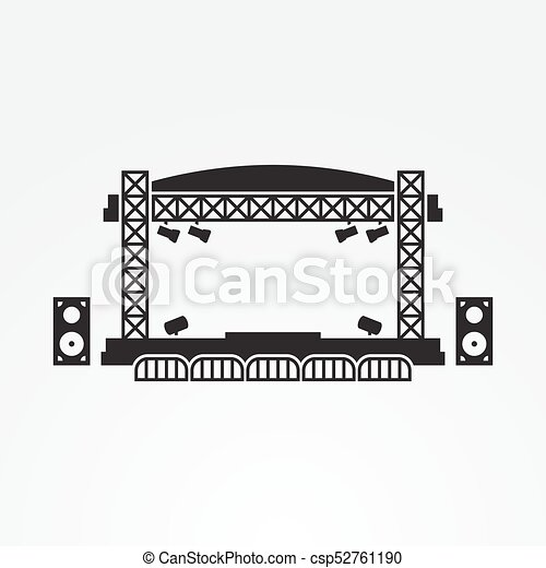 Outdoor Stage Vector Icon