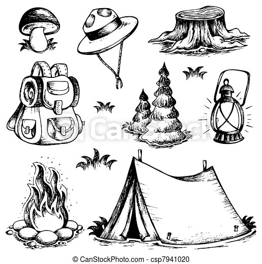 Outdoor theme drawings collection - csp7941020