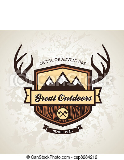 Outdoors emblem - csp8284212