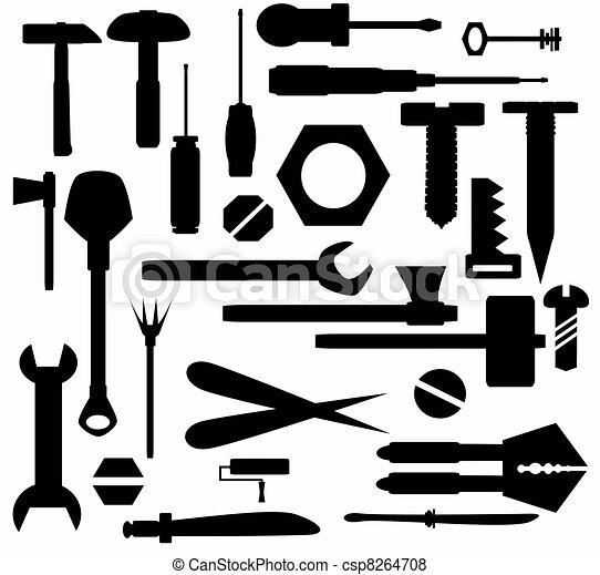 outils bricolage main outils isol collection main illustration de stock recherchez. Black Bedroom Furniture Sets. Home Design Ideas