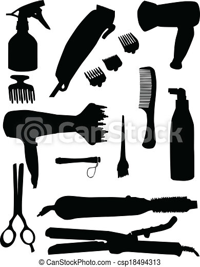 Outils Coiffure Clipart Vectorisu00e9 - Recherchez Illustrations Dessins Et Images Graphiques EPS ...