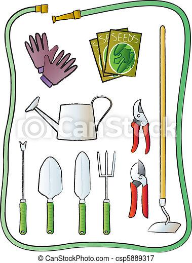outils, jardin - csp5889317