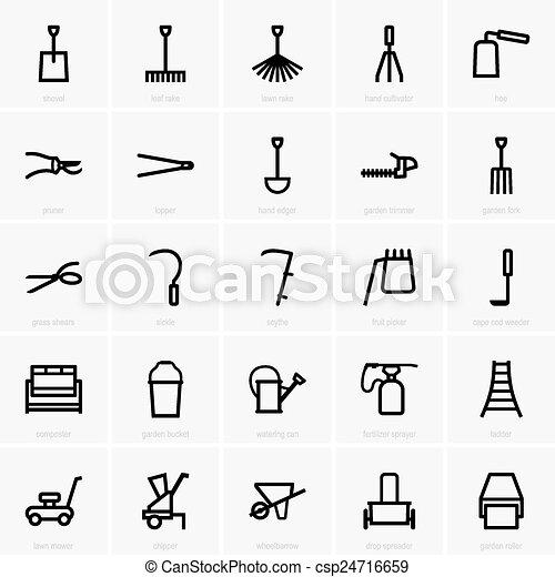 outils jardinage - csp24716659