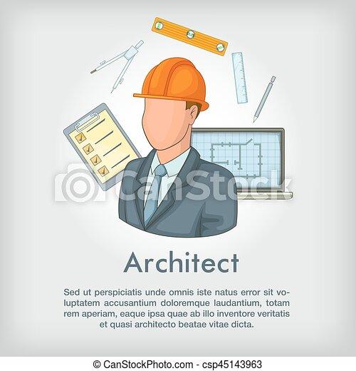 Outils style concept architecte dessin anim toile for Outils architecte