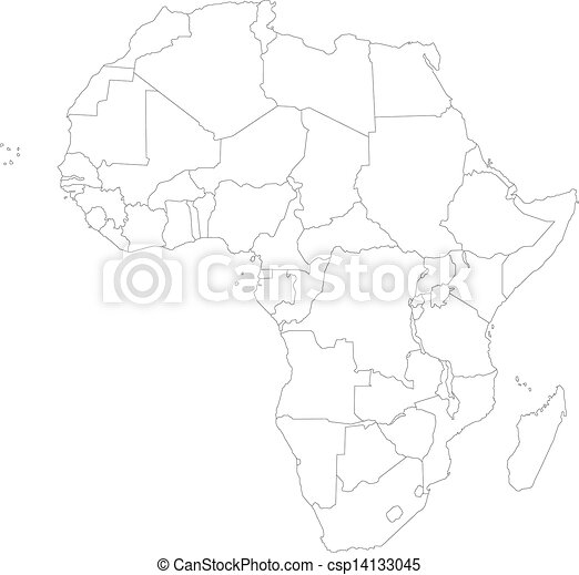 Outline Of Africa Map.Outline Africa Map With Countries