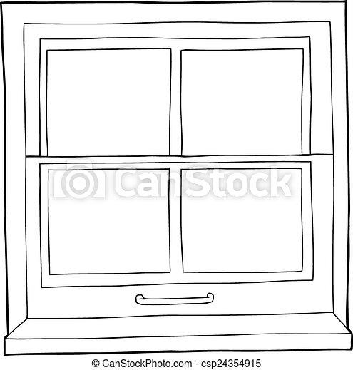 Outline cartoon window single hand drawn outline of window with outline cartoon window csp24354915 thecheapjerseys Images