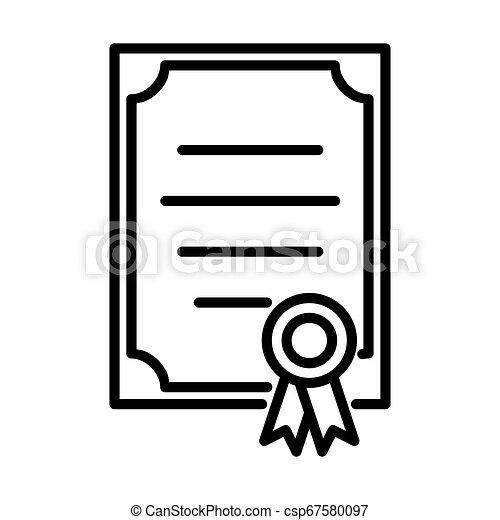 Outline Certificate Icon - msidiqf - csp67580097
