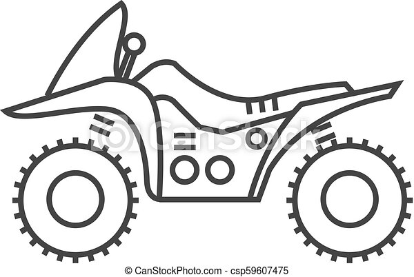 Outline icon - All terrain vehicle - csp59607475