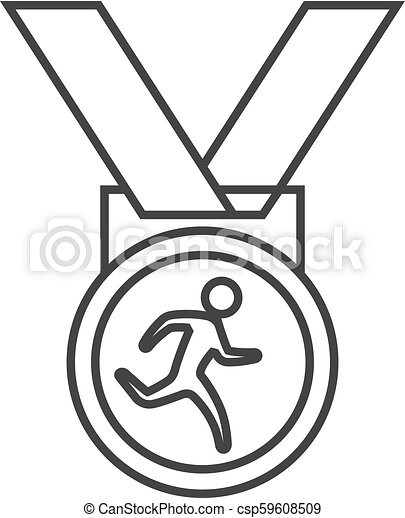 Outline icon - Athletic medal